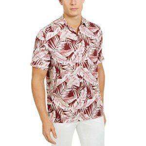 Tasso Elba Men's Amera Leaf-Print Button Up Shirt